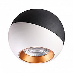 358156 NT19 000 черный/белый/золото Накладной светильник IP20 LED 4000K 6W 220V BALL