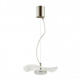 4856/10LA L-VISION ODL_EX21 никель/белый/стекло Подвес LED 1*10W 4000K FLUENT