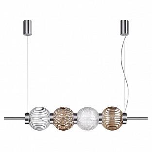 4273/4 MODERN ODL21 197 разноцв/стекл/никель/металл Подвесной светильник IP20 Е14 4*40W FRANCESCA