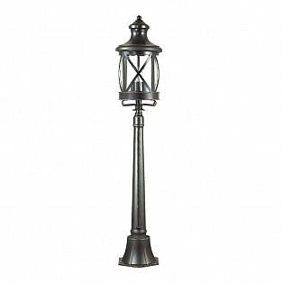 4045/3F ODL18 717 черный/золотая патина Уличный светильник, 124см IP44 E14 3*60W 220V SATION