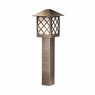 2649/1A ODL14 729 коричн/пластик антивандальный Уличный светильник на столбе H=80см IP44 E27 60W 220