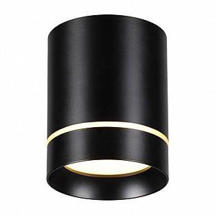 357685 NT18 118 черный Накладной светильник IP20 LED 3000K 9W 160-265V ARUM