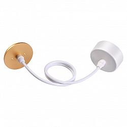 370633 NT19 000 белый/золото Накладная база с провод и кольцом для арт. 370455, 370456