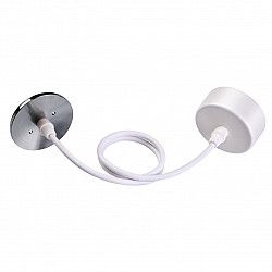 370634 NT19 000 белый/жемч.черный Накладная база с провод и кольцом для арт. 370455, 370456