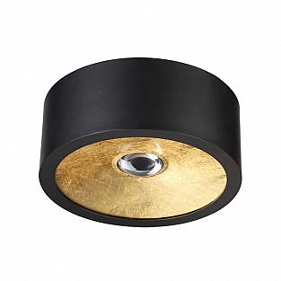 3875/1CL ODL19 149 черный с золотом Потолочной накладной светильник GU10 1*50W 220V GLASGOW