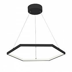 Светодиодный светильник V4605-1/1S, LED 42Вт, 3500-4000K чёрный матовый Vitaluce