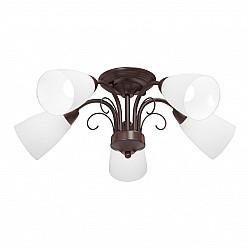 Люстра V3499-7/5PL, 5хЕ14 макс. 40Вт, плафон ПП коричневый матовый Vitaluce