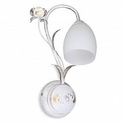 Светильник настенный V1538/1A, 1xE14 макс. 60Вт белая с золотом Vitaluce