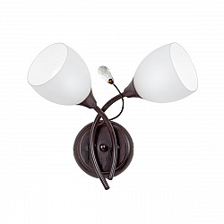 Светильник настенный V3161-7/2A, 2хЕ14 макс. 60Вт коричневый матовый Vitaluce