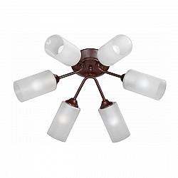 Люстра V3740-7/6PL, 6хЕ27 макс. 60Вт коричневый матовый Vitaluce