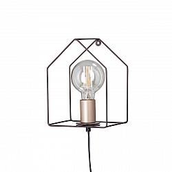 Светильник настенный V4563-7/1A, 1хЕ27 макс. 60Вт коричневый матовый Vitaluce