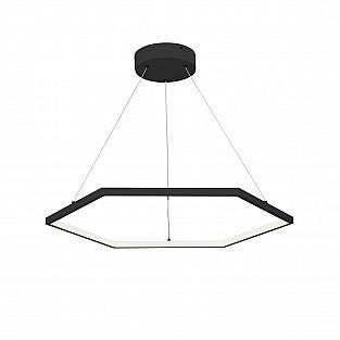 Светодиодный светильник V4606-1/1S, LED 57Вт, 3500-4000K чёрный матовый Vitaluce