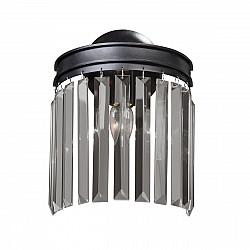 Светильник настенный V5155-1/1A, 1хЕ14 макс. 40Вт чёрный матовый Vitaluce