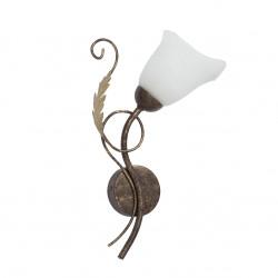 Светильник настенный V1154/1A, 1хЕ14 макс. 60Вт коричневая с золотом Vitaluce