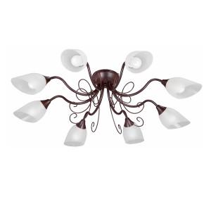 Люстра V1472-7/8PL, 8хЕ14 макс. 40Вт, плафон ПП коричневый матовый Vitaluce