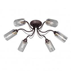 Люстра V3744-8/6PL, 6хЕ27 макс. 60Вт коричневый Vitaluce