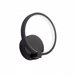 Светодиодный светильник V4609-1/1A, LED 15Вт, 3500-4000K черный матовый Vitaluce