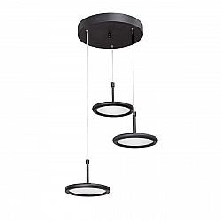 Светодиодный светильник V4604-1/3S, LED 32Вт, 3800K чёрный матовый Vitaluce