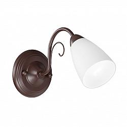 Светильник настенный V3499-7/1A, 1хЕ14 макс. 40Вт, плафон ПП коричневый матовый Vitaluce