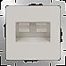 Розетка двойная Ethernet RJ-45 (слоновая кость) WL03-RJ45+RJ45 -ivory
