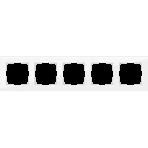 Рамка на 5 постов (белый,стекло) WL01-Frame-05