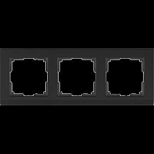 Рамка на 3 поста (черный) WL04-Frame-03-black