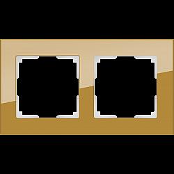 Рамка на 2 поста (бронзовый) WL01-Frame-02