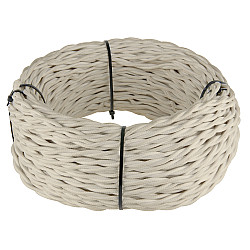Ретро кабель витой 2х2,5 (песочный) Ретро кабель витой 2х2,5 (песочный)