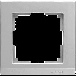 Рамка на 1 пост (серебряный) WL04-Frame-01