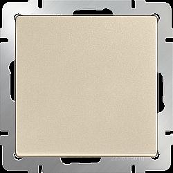 Выключатель одноклавишный проходной (шампань) WL11-SW-1G-2W