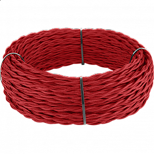 Ретро кабель витой 2х2,5 (красный) Ретро кабель витой 2х2,5 (красный)