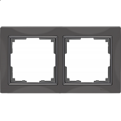 Рамка на 2 поста (серо-коричневый, basic) WL03-Frame-02