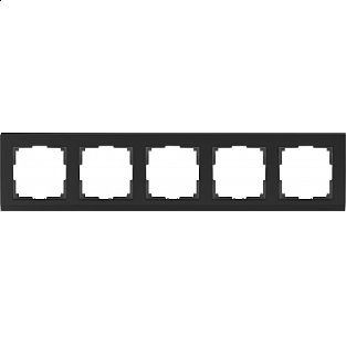 Рамка на 5 постов (черный) WL04-Frame-05-black