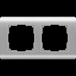 Рамка на 2 поста (серебряный) WL12-Frame-02