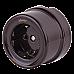 Розетка с заземлением и шторками (коричневый) Ретро WL18-03-02
