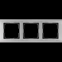 Рамка на 3 поста (глянцевый никель) WL02-Frame-03