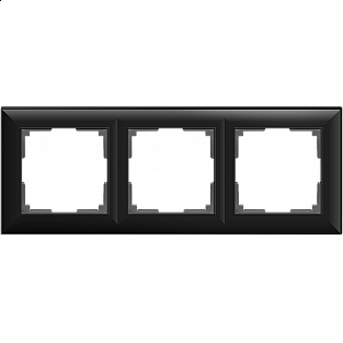 Рамка на 3 поста (черный матовый) WL14-Frame-03