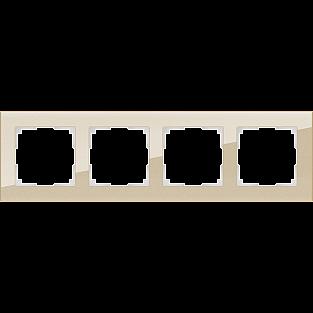 Рамка на 4 поста (шампань) WL01-Frame-04