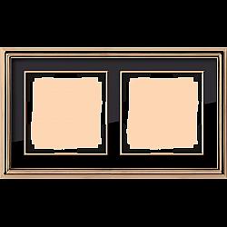 Рамка на 2 поста (золото/черный) WL17-Frame-02