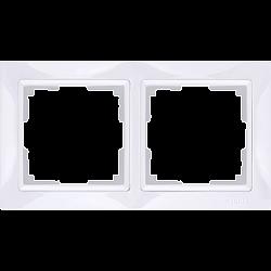 Рамка на 2 поста (белый, basic) WL03-Frame-02