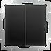 Выключатель двухклавишный (черный матовый) WL08-SW-2G