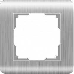Рамка на 1 пост (серебряный) WL12-Frame-01