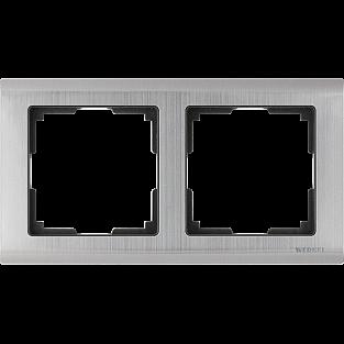 Рамка на 2 поста (глянцевый никель) WL02-Frame-02