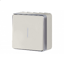 Выключатель одноклавишный с подсветкой Gallant (слоновая кость) WL15-01-04