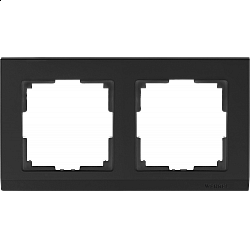 Рамка на 2 поста (черный) WL04-Frame-02-black