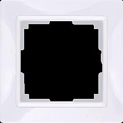 Рамка на 1 пост (белый, basic) WL03-Frame-01