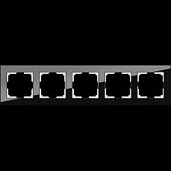 Рамка на 5 постов (черный) WL01-Frame-05