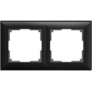 Рамка на 2 поста (черный матовый) WL14-Frame-02