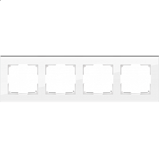 Рамка на 4 поста (белый, стекло) WL01-Frame-04