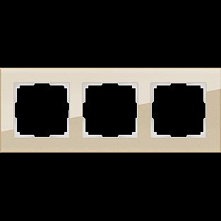 Рамка на 3 поста (шампань) WL01-Frame-03